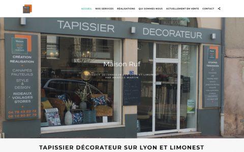 Maison Ruf tapissier décorateur lyon