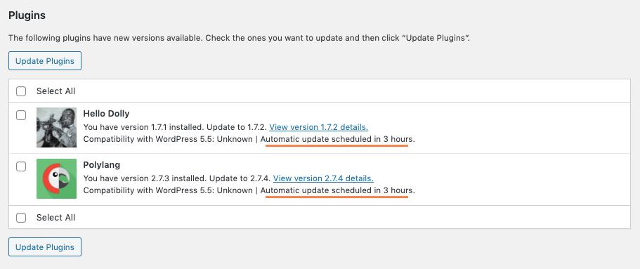 mise à jour wordpress automatique 5.5 freelance lyon