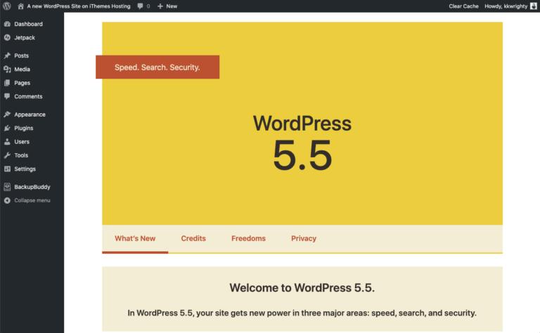 mise à jour wordpress automatique 5.5 freelance agence communication lyon