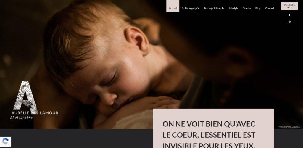 Aurelie lamour photographe création site internet lyon