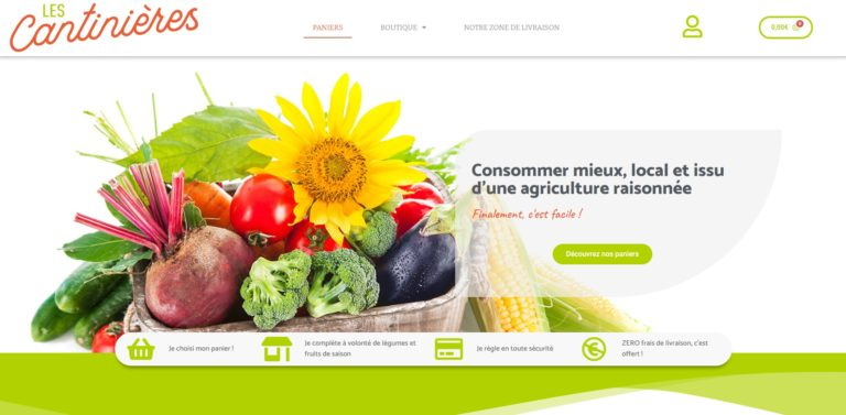 les cantinières agence de communication lyon création de site internet freelance webmaster