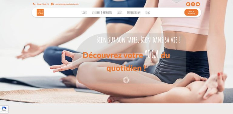 yoga avec milana site internet création agence communication freelance lyon